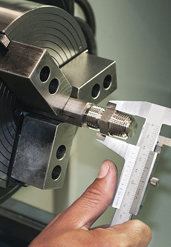 CNC machine & wrench